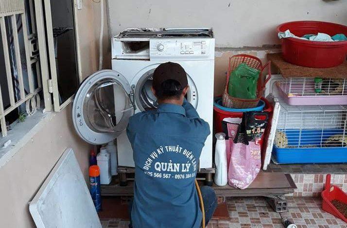 Vệ sinh sửa máy giặt Dĩ An uy tín nhất ở Dĩ An Bình Dương