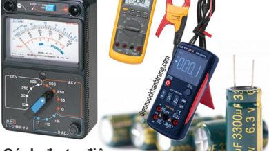 4 Cách đo tụ điện còn sống hay chết bằng đồng hồ