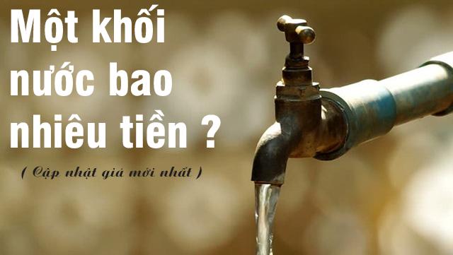 1 Khối nước bao nhiêu tiền 2021 ?